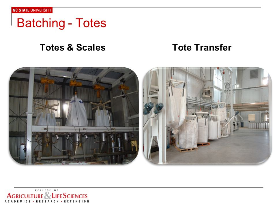 Batching - Totes Totes & Scales Tote Transfer