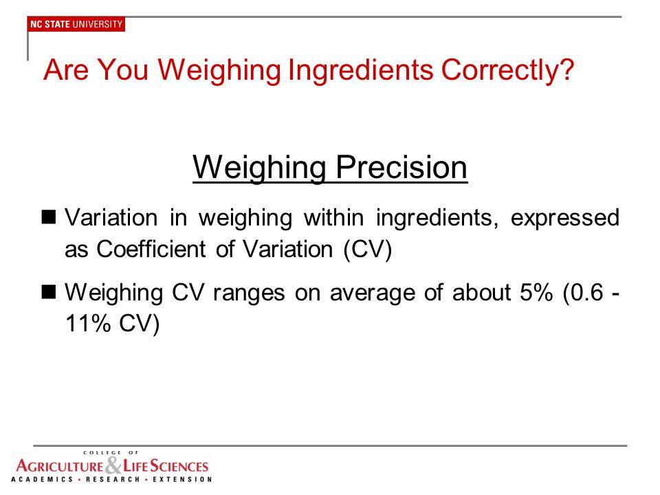Are You Weighing Ingredients Correctly