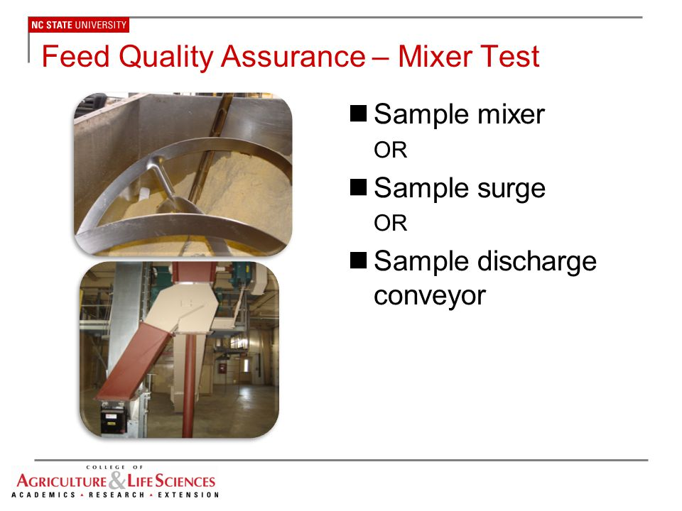 Feed Quality Assurance – Mixer Test