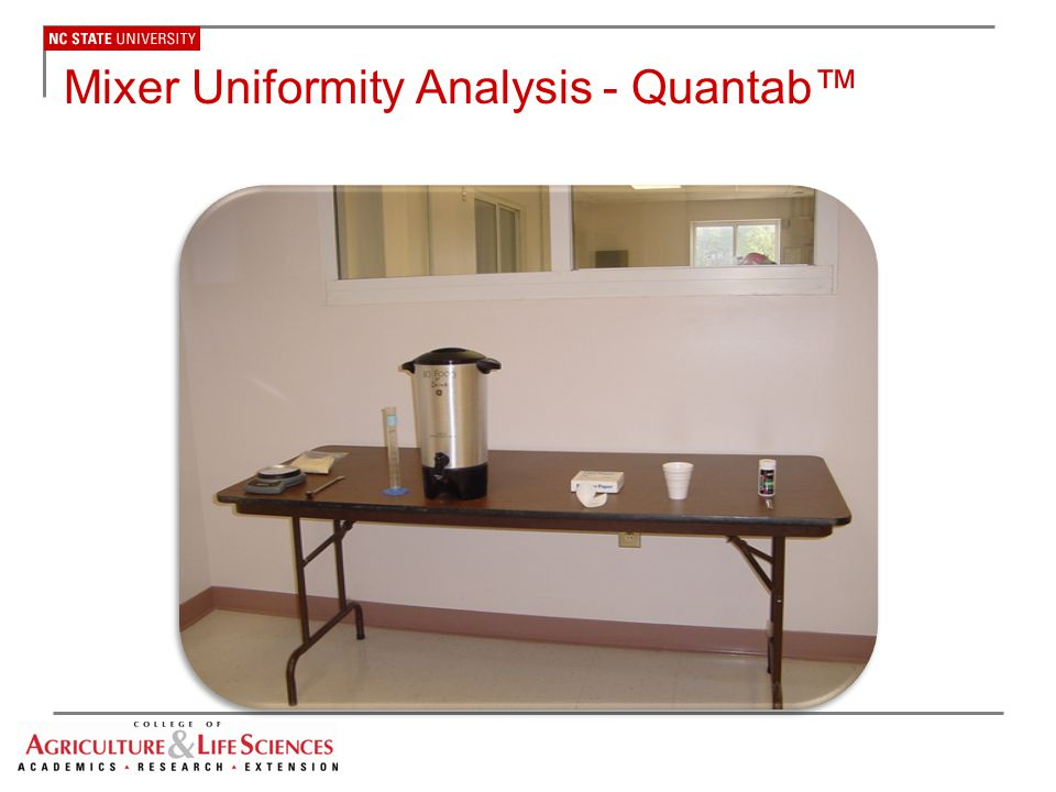 Mixer Uniformity Analysis - Quantab™