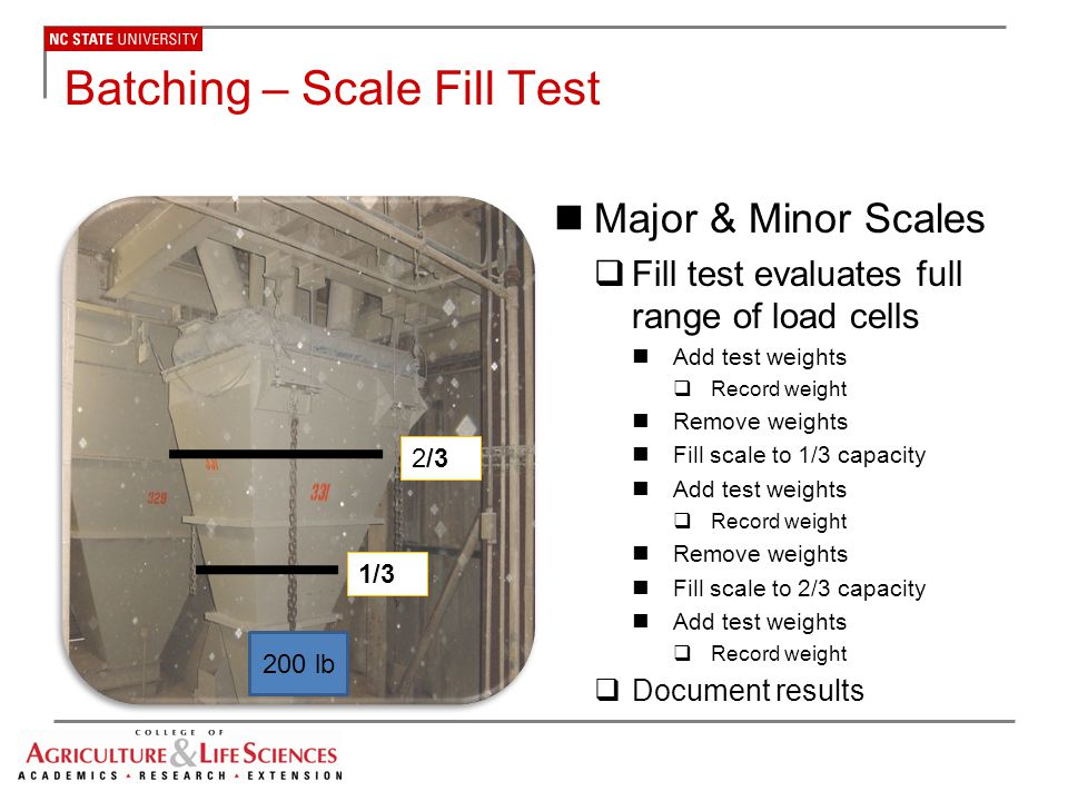 Batching – Scale Fill Test