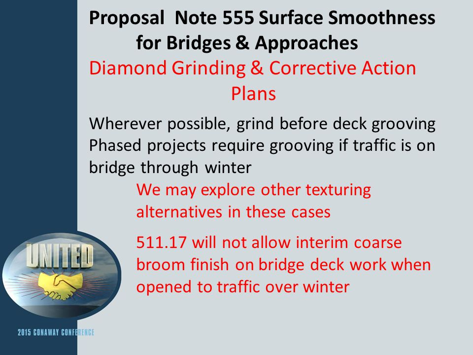 Proposal Note 555 Surface Smoothness