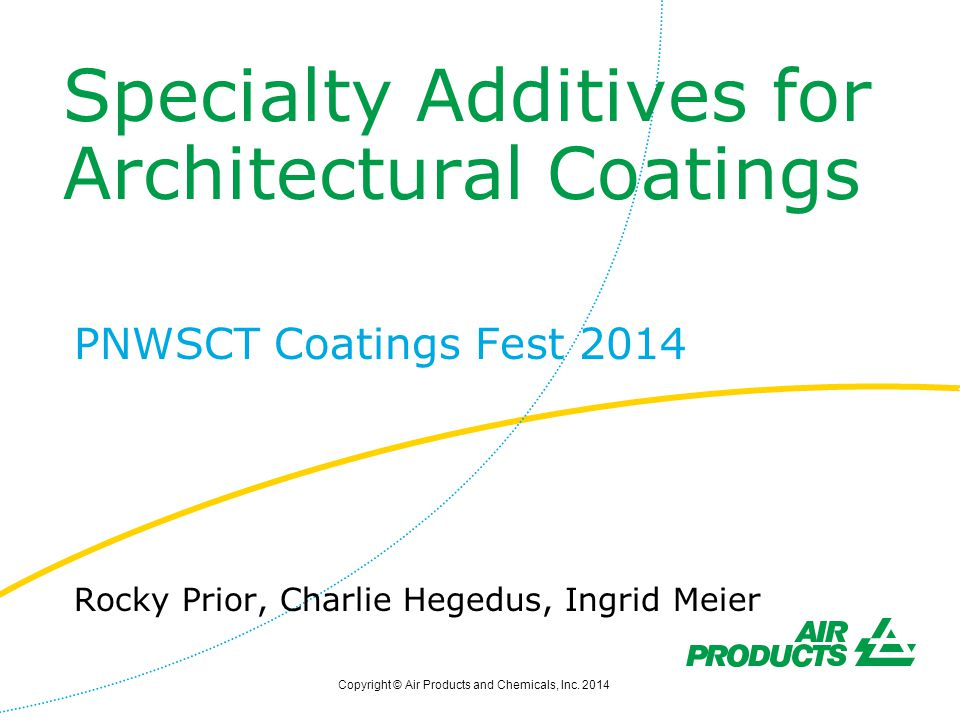 Specialty Additives for Architectural Coatings
