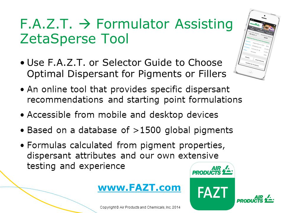 F.A.Z.T.  Formulator Assisting ZetaSperse Tool