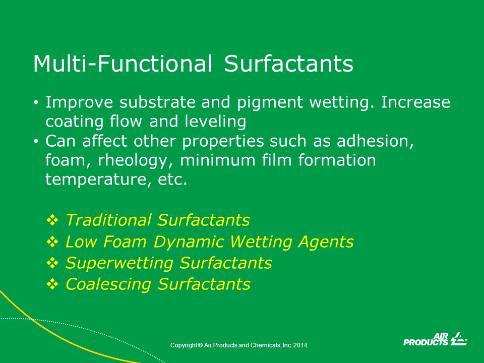 Multi-Functional Surfactants