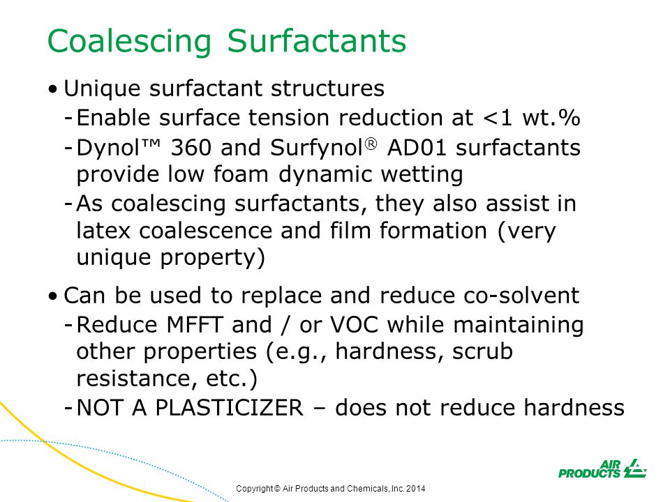 Coalescing Surfactants