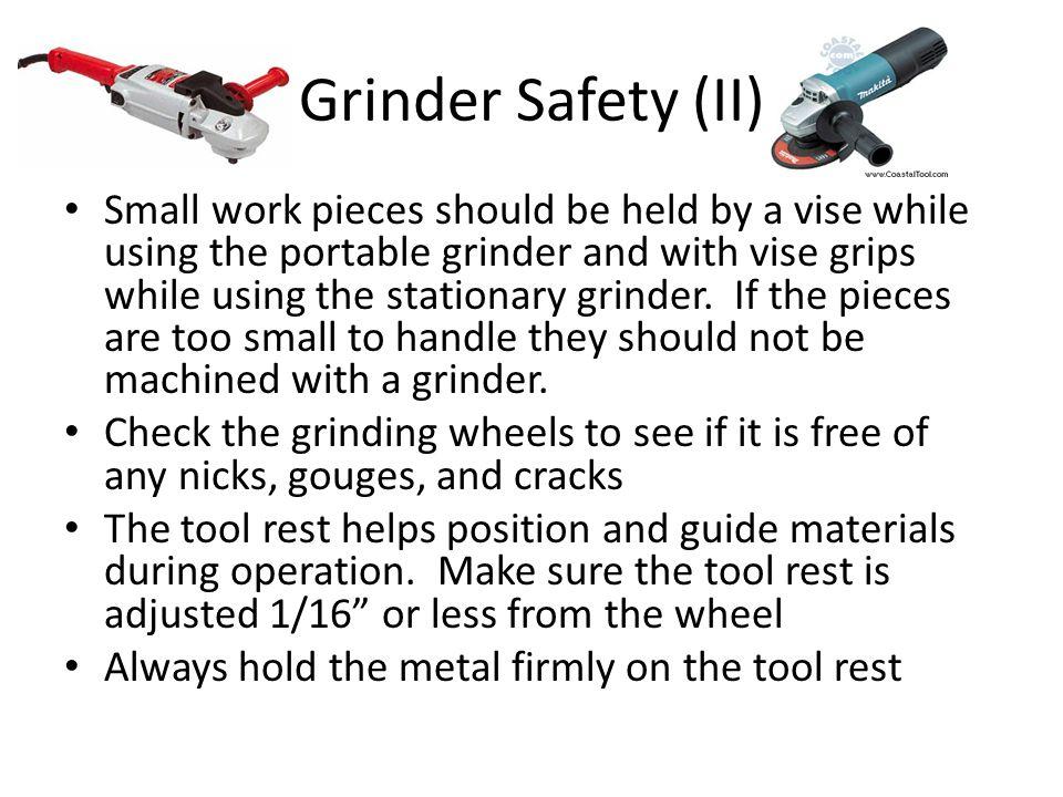 Grinder Safety (II)