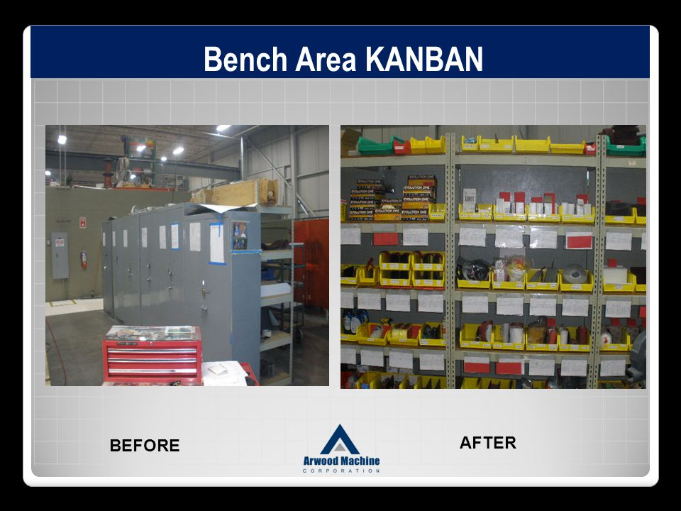 Bench Area KANBAN BEFORE AFTER