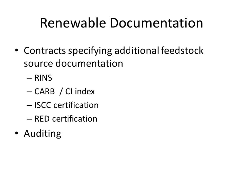 Renewable Documentation