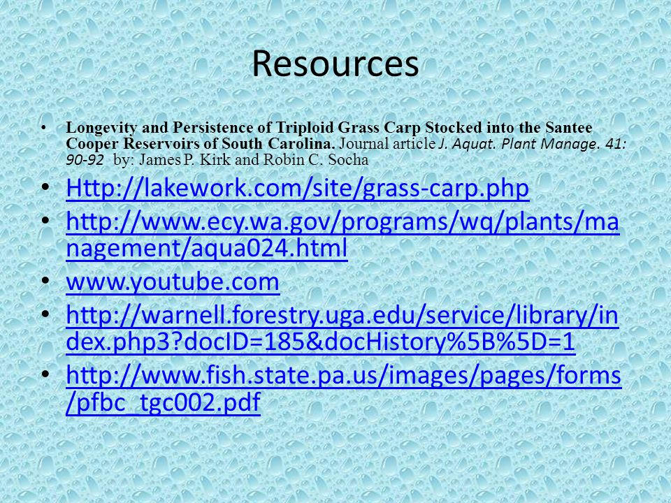Resources Http://lakework.com/site/grass-carp.php