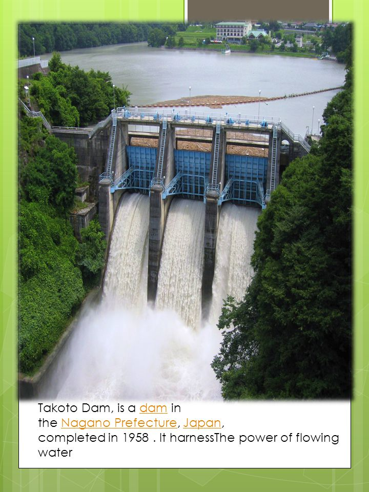 Takoto Dam, is a dam in the Nagano Prefecture, Japan, completed in 1958 .