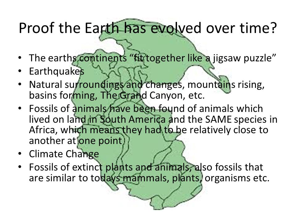 Proof the Earth has evolved over time