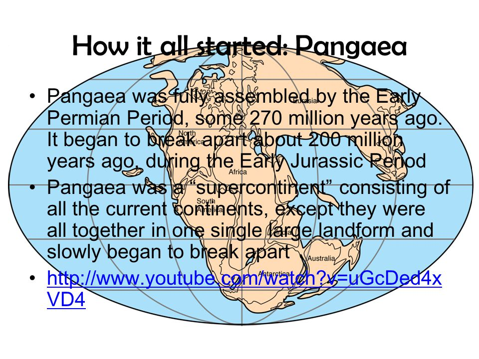 How it all started: Pangaea