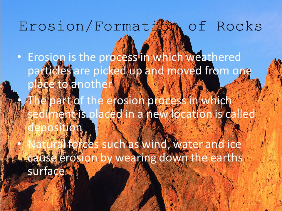 Erosion/Formation of Rocks
