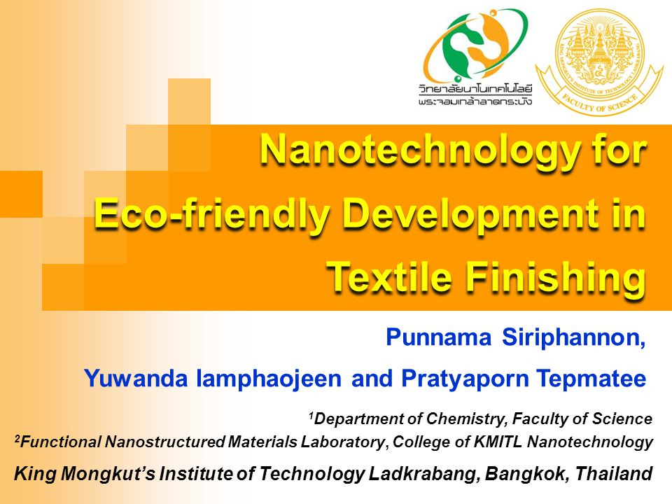 Eco-friendly Development in Textile Finishing