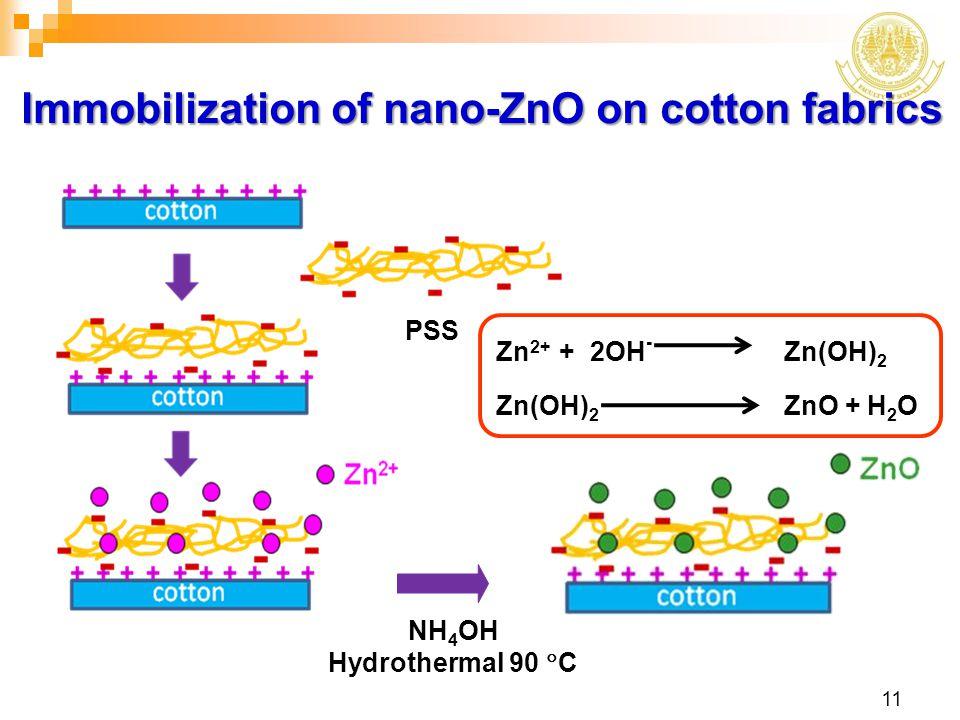 Immobilization of nano-ZnO on cotton fabrics