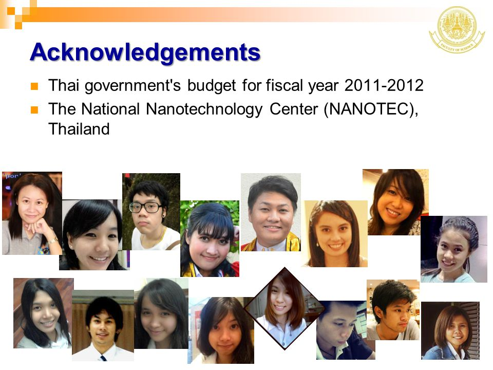 Acknowledgements Thai government s budget for fiscal year 2011-2012