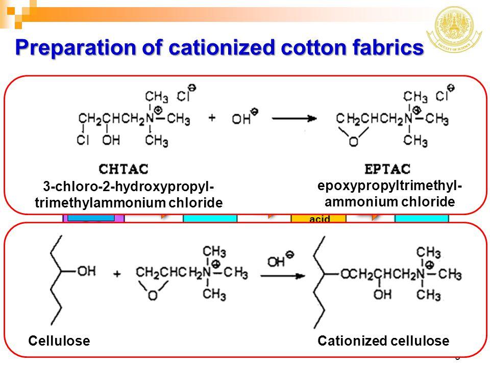 Preparation of cationized cotton fabrics
