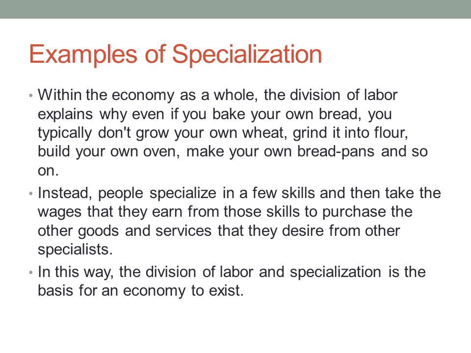 job specialization and the division of labour 1776 – adam smith division of labor or job specialization late 18 th century  industrial revolution 1900 – development of management theories.