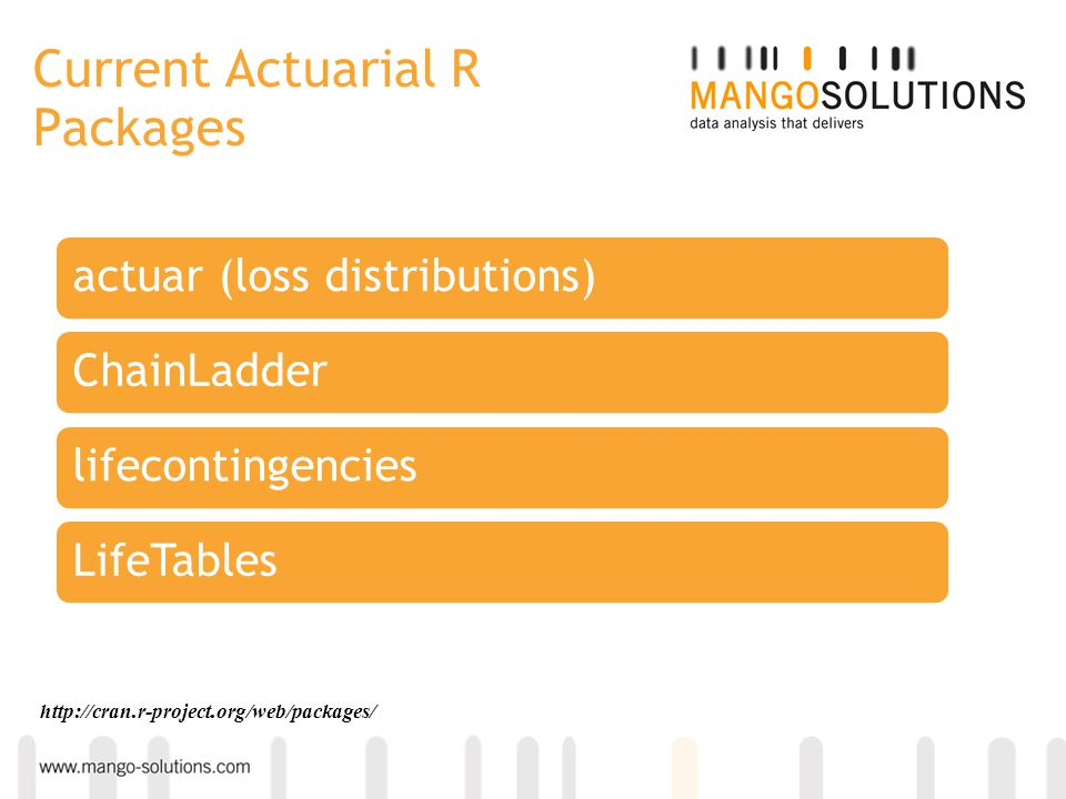 Current Actuarial R Packages