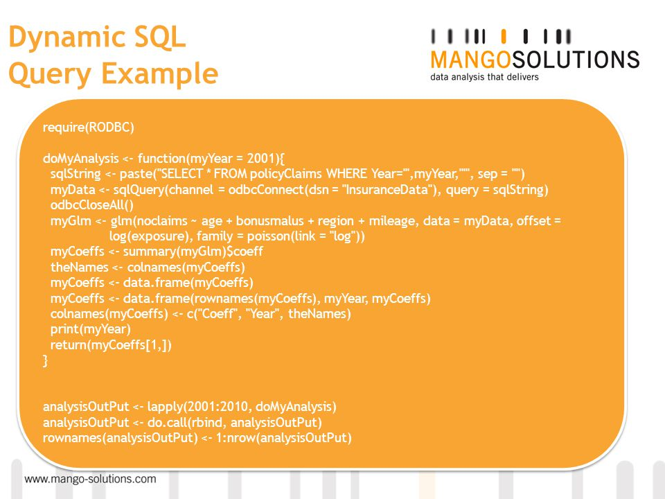 Dynamic SQL Query Example