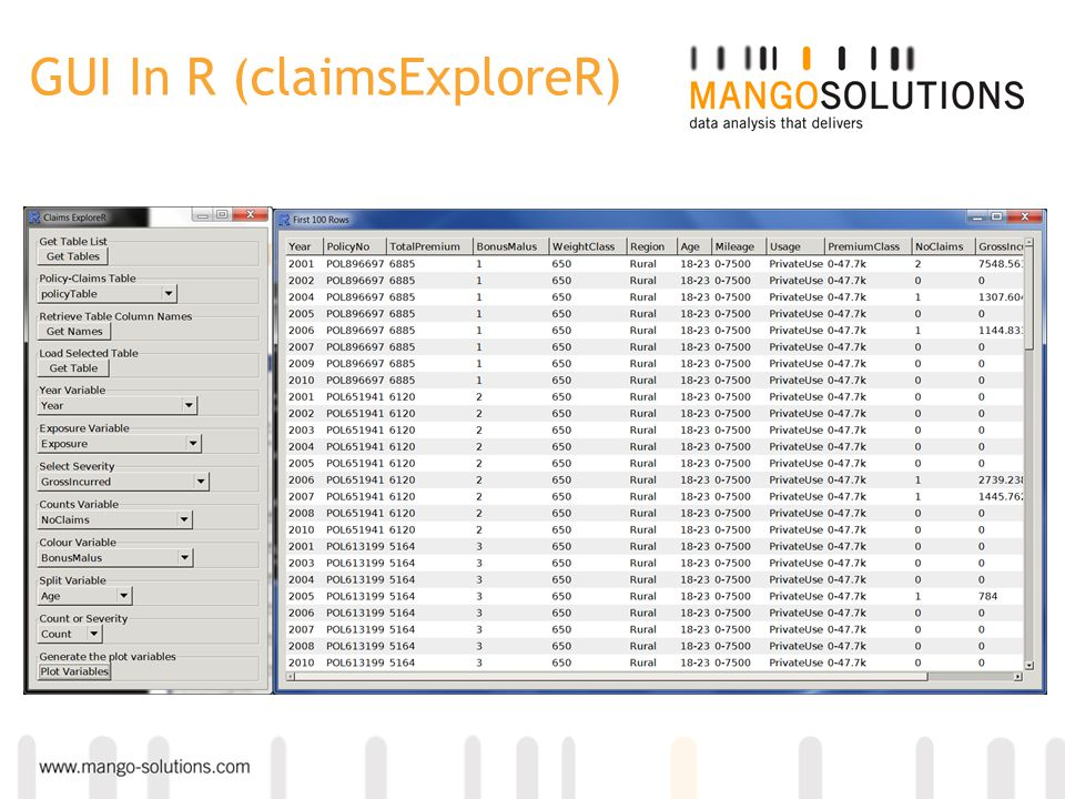 GUI In R (claimsExploreR)