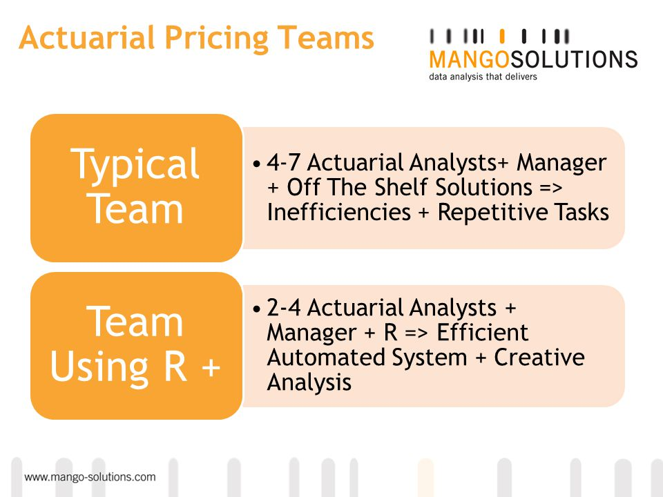 Actuarial Pricing Teams