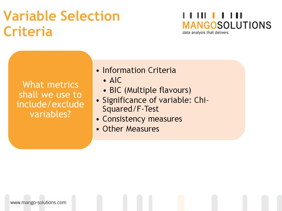 Variable Selection Criteria