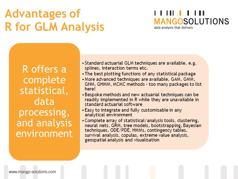 Advantages of R for GLM Analysis