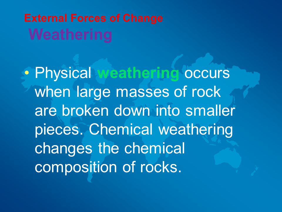 External Forces of Change Weathering