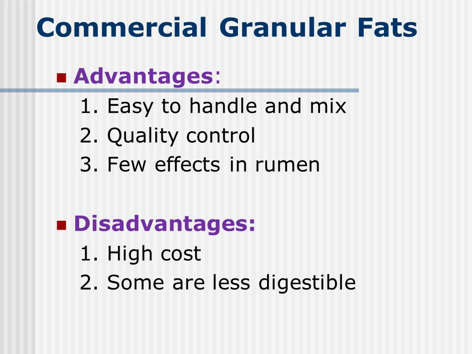 Commercial Granular Fats
