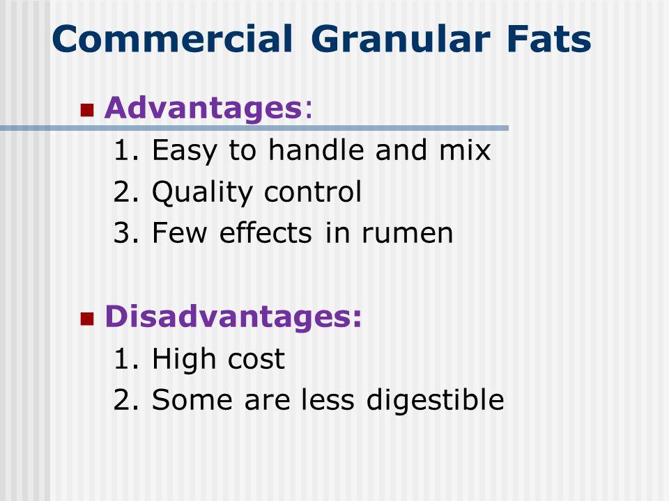 Commercial Granular Fats
