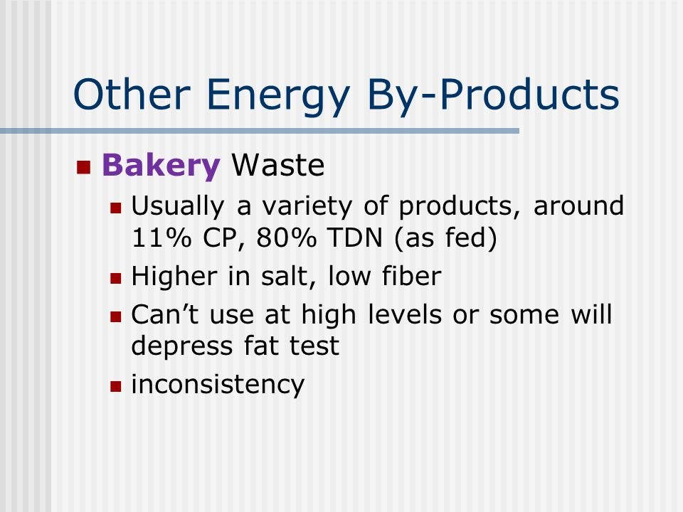 Other Energy By-Products