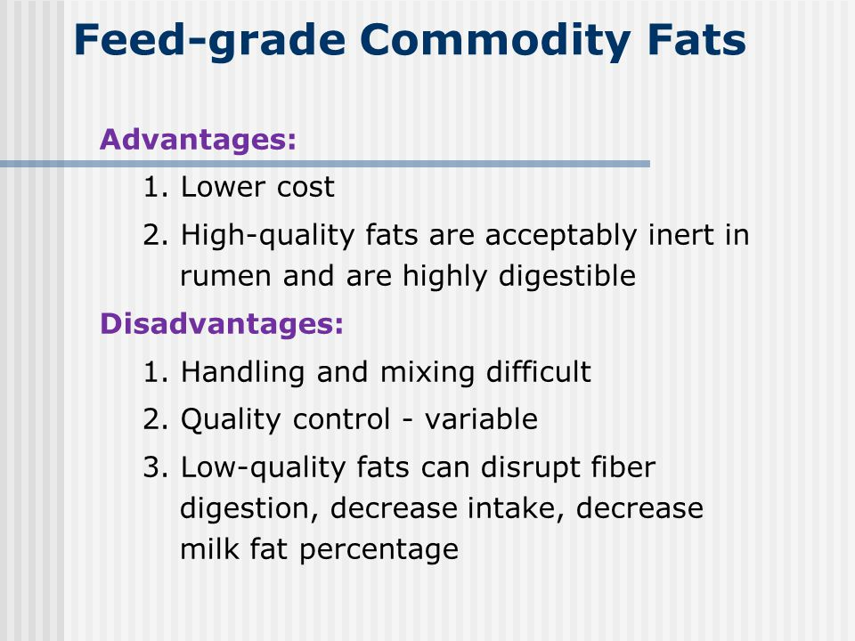 Feed-grade Commodity Fats