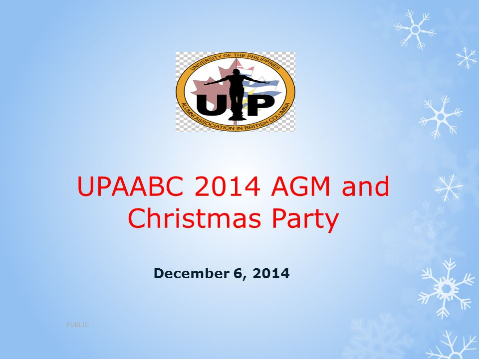 UPAABC 2014 AGM and Christmas Party