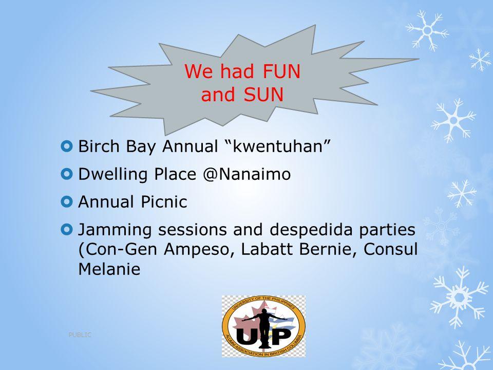We had FUN and SUN Birch Bay Annual kwentuhan