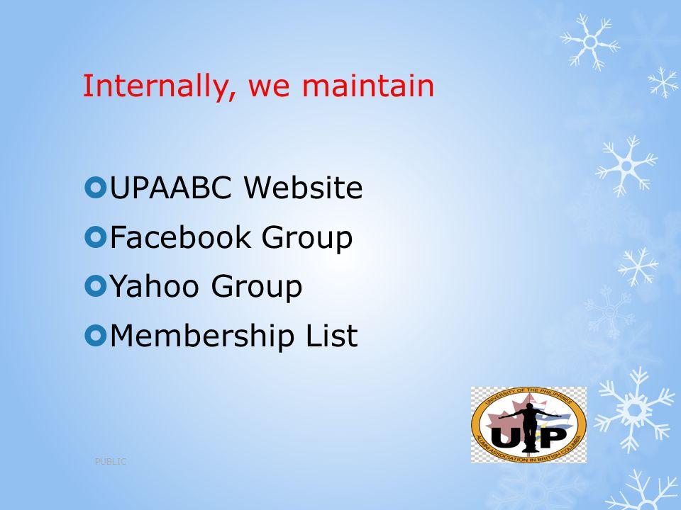 Internally, we maintain