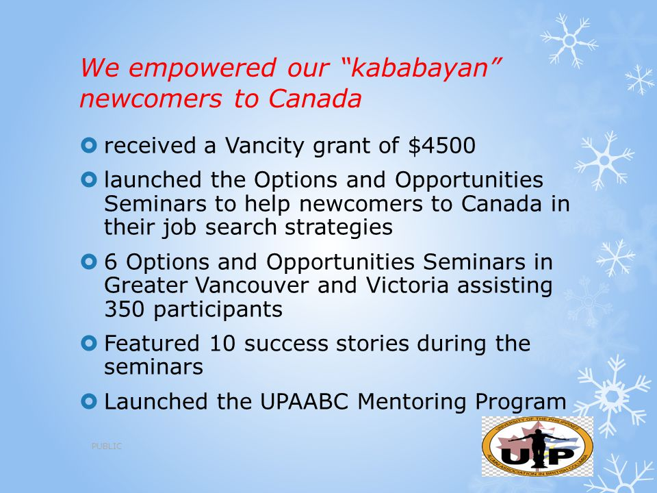 We empowered our kababayan newcomers to Canada