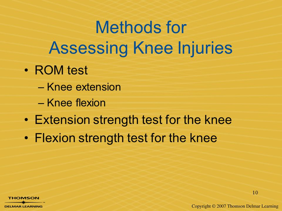 Methods for Assessing Knee Injuries