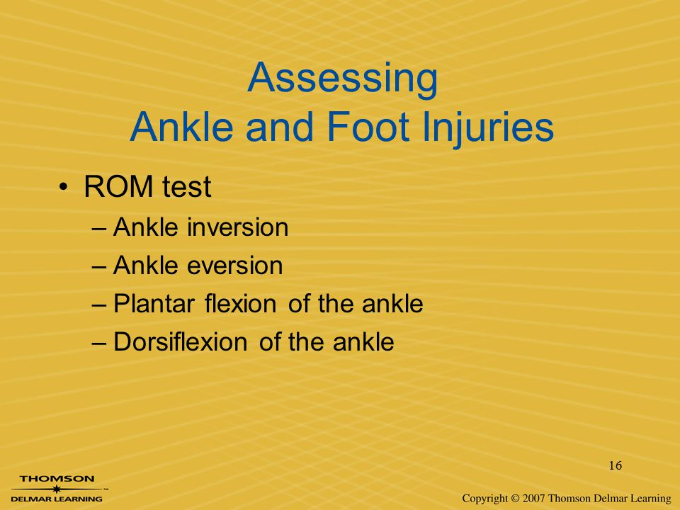 Assessing Ankle and Foot Injuries