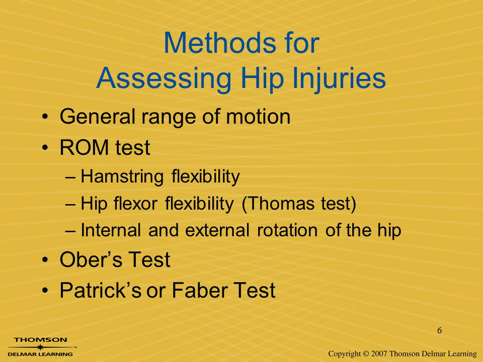 Methods for Assessing Hip Injuries