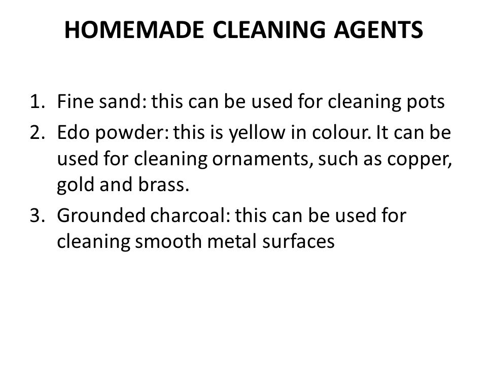 HOMEMADE CLEANING AGENTS