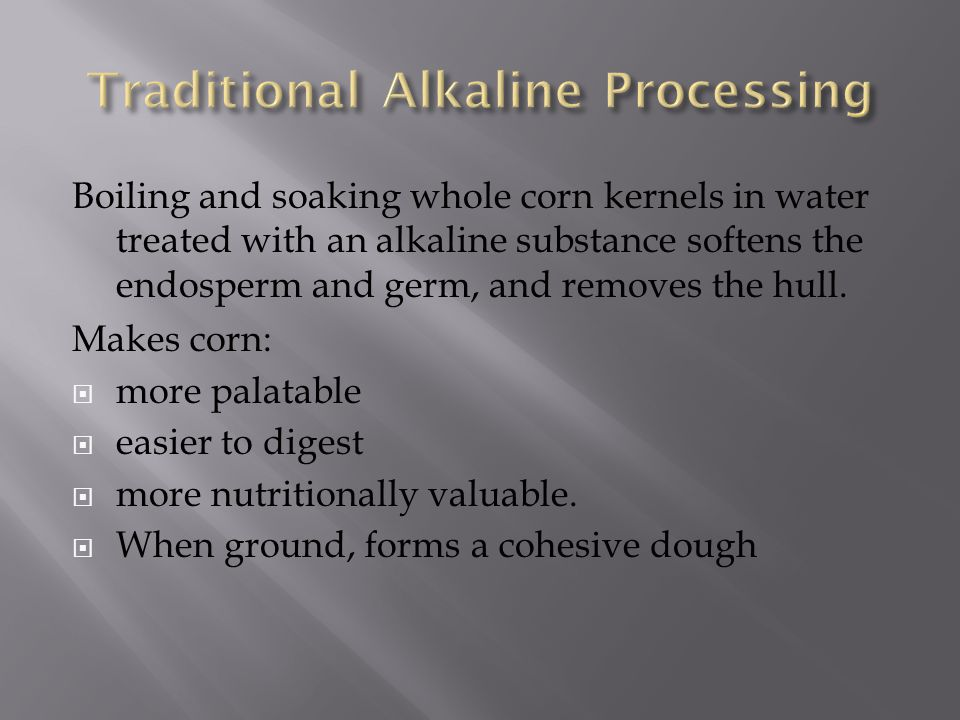 Traditional Alkaline Processing