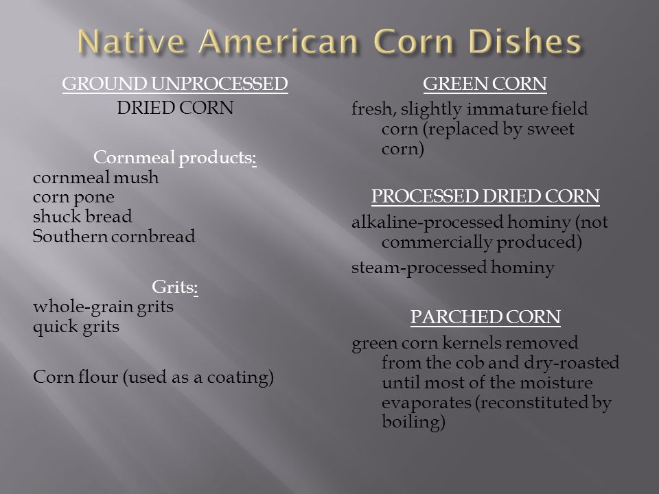 Native American Corn Dishes