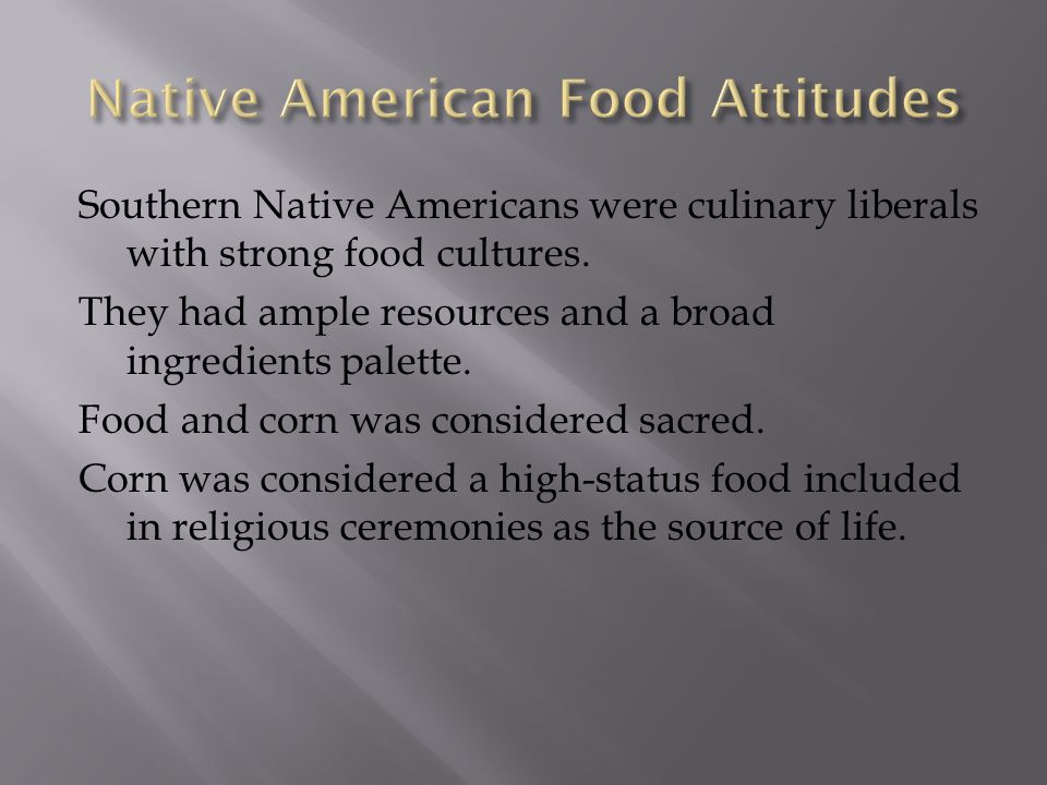 Native American Food Attitudes
