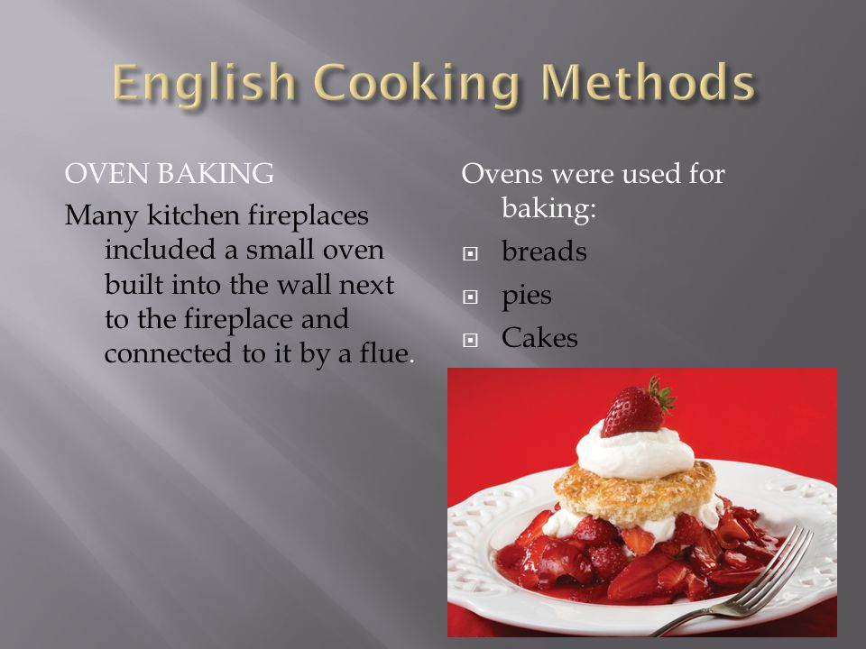 English Cooking Methods