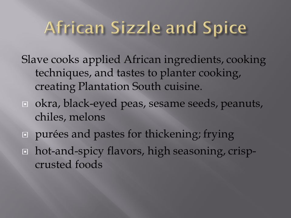 African Sizzle and Spice
