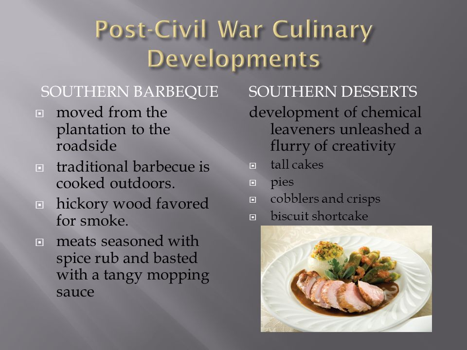 Post-Civil War Culinary Developments