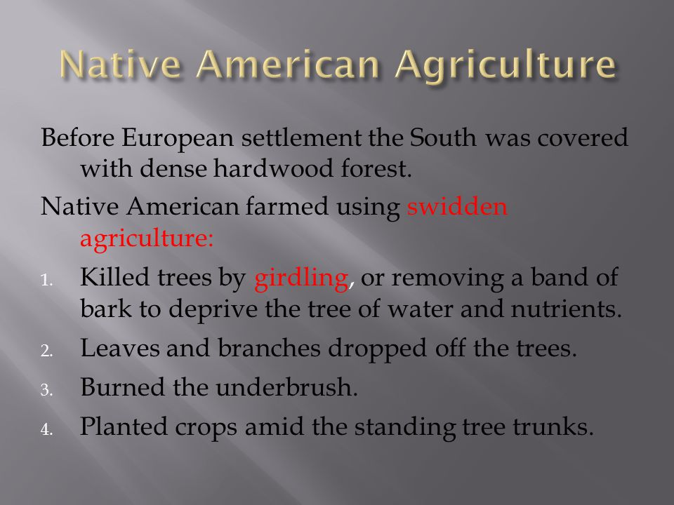 Native American Agriculture