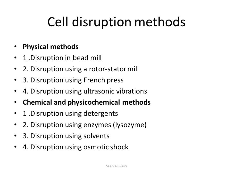 Cell disruption methods